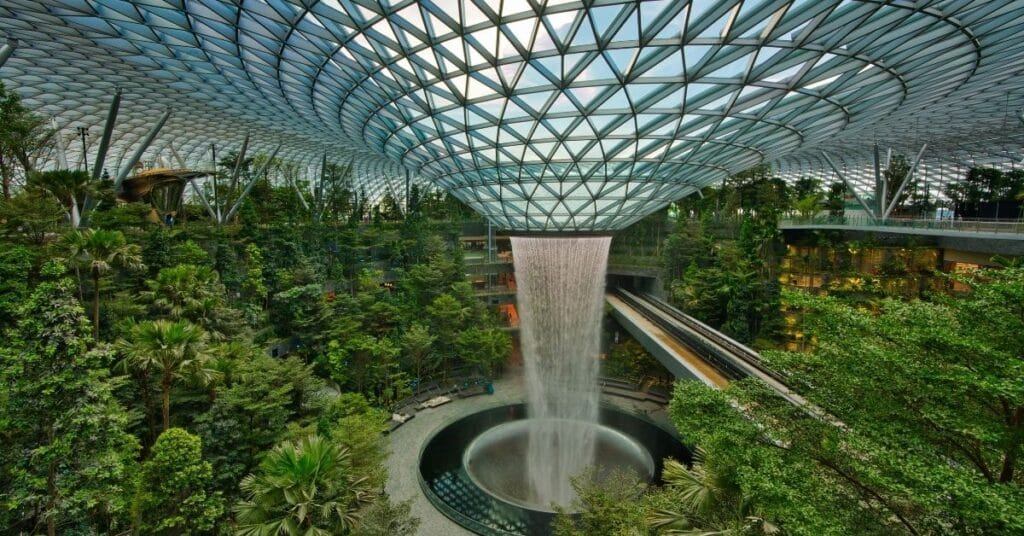 Singapore Changi Airport in Crazy Rich Asians