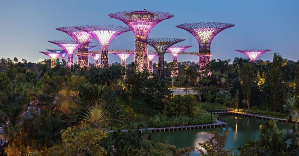 Gardens By The Bay in Crazy Rich Asians